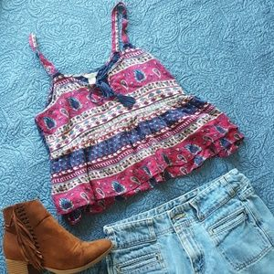 FOREVER 21 crop top, lace back